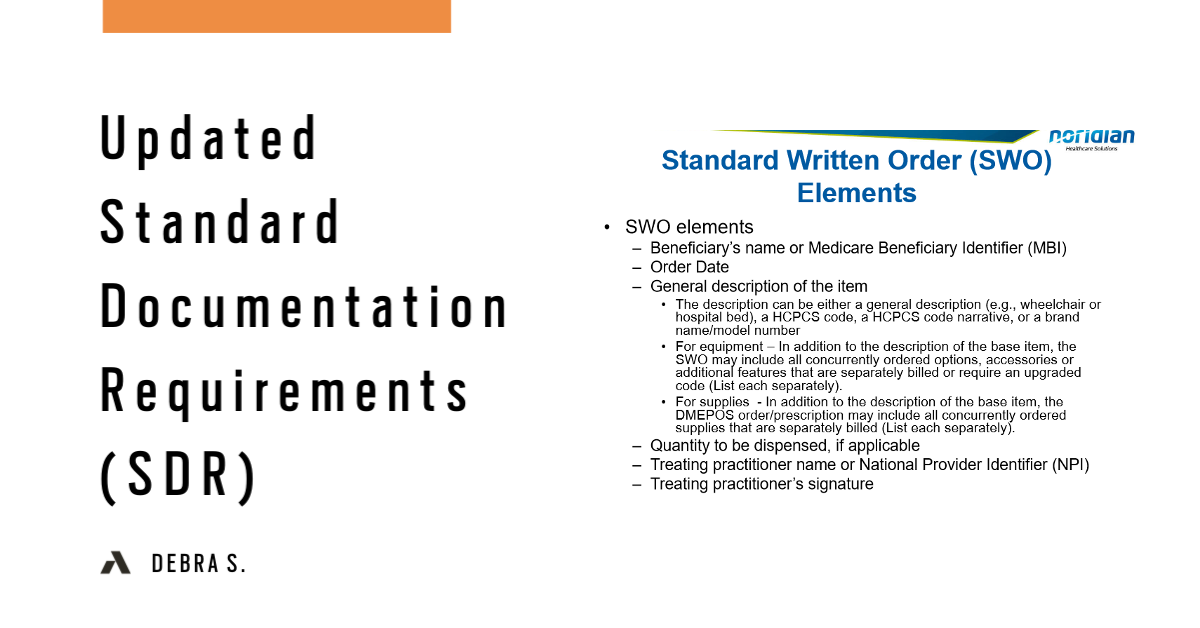 Updated Standard Documentation Requirements (SDR)